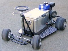 Motorized cooler...arrive in style and well hydrated!
