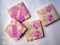 Decorated cookies at a Garden Flower Party #gardenflower #partycookies
