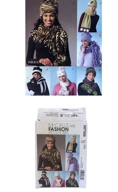 2004 McCall's MP366 Sewing Pattern Misses Fleece Hats Scarves Mittens DIY Winter Fashion Cold Weather Accessories Misses Size Small – Large by UpstairsAttic on Etsy