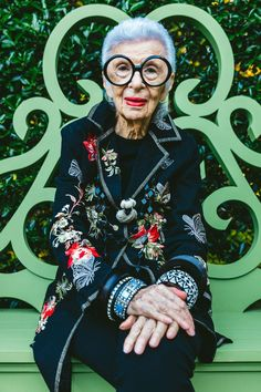 "She's Back! Iris Apfel in Newport - ""I think jewelry can change an outfit more than anything else. Transformation, punch, individuality: One or all of the above are why you should wear jewelry."""