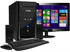 Computador/PC PC Mix L4300 com Intel Dual Core - 2GB 500GB Windows 8 LED 15,6 Grava CD/DVD