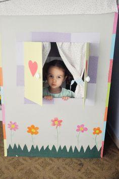 Casinha de papelão! Feliz Dia das Crianças!