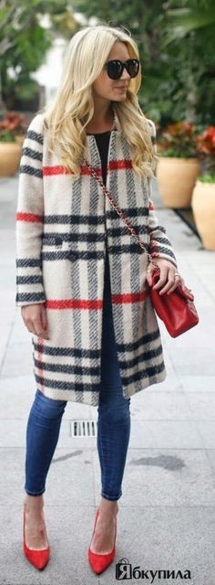 Тренд осени 2015 - пальто в клетку!