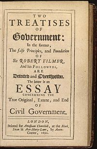 What's John Locke's theory of government and its relationship with the governed?