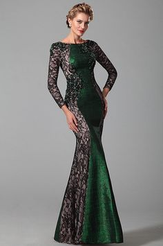 Long Lace Sleeves Mother of the Bride Dress With Beadwork Day Dresses, Nice Dresses, Formal Dresses, Beautiful Gowns, Beautiful Outfits, Mother Of The Bride Gown, Mother Bride, Latest Fashion Dresses, Indian Gowns