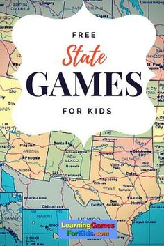 Get FREE drill and practice on U. States right here! Super fun learning games for kids. Get FREE drill and practice on U. States right here! Super fun learning games for kids. Geography Activities, Geography For Kids, Maps For Kids, Teaching Geography, Teaching History, History Education, Geography Map Quiz, Teaching Tips, 4th Grade Social Studies