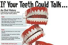 If Your Teeth Could Talk ...  The Mouth Offers Clues to Disorders and Disease; Dentists Could Play Larger Role in Patient Care