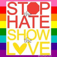 [Love Not Hate] #lovenothate #LGBTQIA #LoveWins #LGBTRights #NOH8 #FightHomophobia