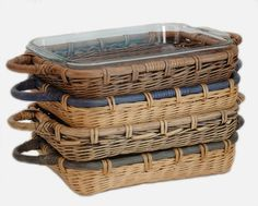Rattan & Wicker Serving Baskets from The Basket Lady