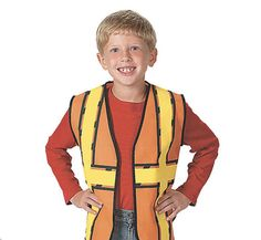 This durable, nonwoven polyester Construction Worker Vest makes a simple and effective costume accessory for kids of all .