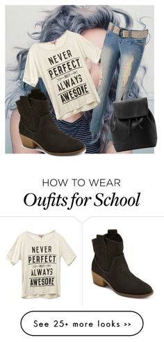 """school"" by gracerose03 on Polyvore featuring Wet Seal and MANGO"