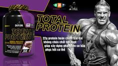 22g protein hoàn chỉnh trải dài, không chứa chất độn và chất tạo ngọt, giúp xây dựng phát triển cơ bắp, phục hồi cơ thể, Jay Cutler bổ sung protein suốt ngày http://www.thehinhonline.com.vn/sanpham/chitiet/total-protein