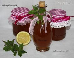 Mätový sirup (fotorecept) Non Alcoholic Drinks, Beverages, Jam And Jelly, Health Advice, Hot Sauce Bottles, Lemonade, Smoothie, Food And Drink, Herbs