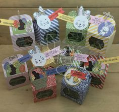Easter Treats | Stampin\' Up! | Basket Bunch #literallymyjoy #easter #giftpackaging #treatholders #treats #eastereggs #bunny #chicks #grass #2017OccasionsCatalog #20162017AnnualCatalog