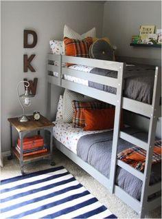 purple/gray and orange little boy room hollymathis