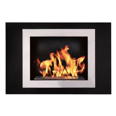The Bio Flame's Fiorenzo is an eco-friendly ventless fireplace that can be simply hung on the wall, just like your flat screen TV. This fireplace classy, modern, and affordable. Eco-friendly bio-ethan