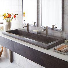 Vessel Sink Vanity, Trough Sink, Sink Faucets, Mirror Vanity, Bowl Sink, Mirror Set, Undermount Sink, Drop In Bathroom Sinks, Large Bathrooms