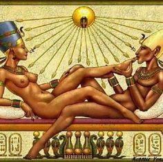 Egyptian Queen and King • Beautiful Black Art