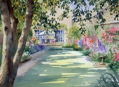 "Ann Mortimer - ""Walled Garden"",  watercolour"