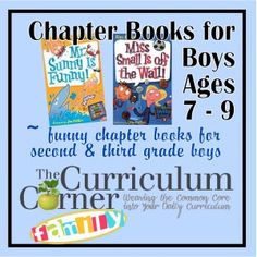 A list of entertaining, funny and sometimes gross (in a second grade sort or way) chapter books for your boys!  Great for those boys who are just not interested in reading.