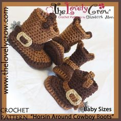 Cowboy Boots Crochet Pattern Baby Sizes 961f0a6dc7a