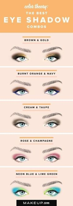 Here's a color combo chart is great if you need a little inspiration. | 18 Eye Makeup Cheat Sheets If You Don't Know WTF You're Doing