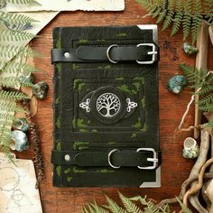 The forest traveller's journal - silver edition by MilleCuirs on DeviantArt Journal Aesthetic, Witch Aesthetic, Journal Covers, Book Journal, Bullet Journal, Grimoire Book, Leather Books, Leather Gifts, Mystique