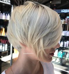 Short Layered Blonde Hairstyle