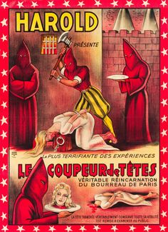 spicyhorror:1920s French poster for a Grand Guignol type horror...