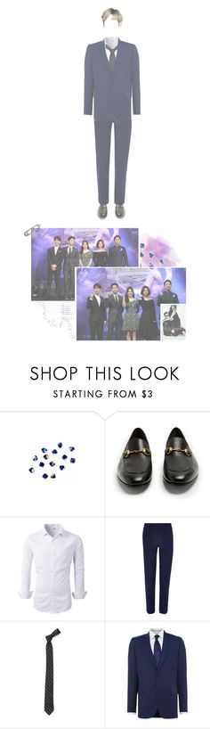 """""""""""Bonnie and Clyde"""" Press Conference // Young"""" by flat-line-official ❤ liked on Polyvore featuring Swarovski, Gucci, River Island, PS Paul Smith, men's fashion and menswear"""