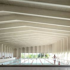 """HawkinsBrown+designs+pool+that+will+give+the+sense+of+""""swimming+amongst+the+trees"""""""