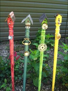 Best Spindle crafts ideas on Garden Crafts, Garden Projects, Diy Projects, Spindle Crafts, Wood Crafts, Stair Spindles, Banisters, Railings, Outdoor Art
