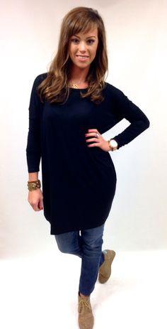The Willow Tree - Black Piko Tunic Dress , $29.95 (http://willow-tree.mybigcommerce.com/black-piko-tunic-dress/)