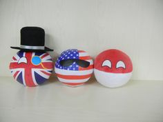 Polandball Plushies ( UK, USA, Poland ) #polandball #countryball