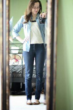 Bramblewood Fashion ❘ Modest Fashion Blog: What I Wore | Sequins + Chambray
