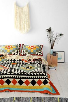 Kaleidoscope Patchwork Quilt #urbanoutfitters