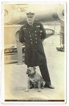 Admiral Lord Beresford and his Bulldog, 1907.