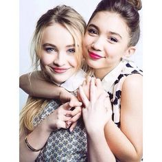 """Rowan Blanchard and Sabrina Carpenter record the """"Girl Meets World"""" theme song """"Take On The World"""" CAN NOT WAIT! Description from pinterest.com. I searched for this on bing.com/images"""