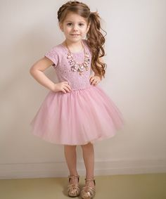 Look at this Taylor Joelle Designs Mauve Lace Dress - Infant, Toddler & Girls on #zulily today!