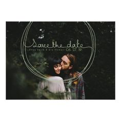 Whimsical Circle Save the Date Photo Invite by ReDefined Designs on Zazzle  @zazzle #wedding #card #invitation #save #the #date #couple #marriage #fun #cute #outdoors #sweet #kiss #love #emotion #feeling #bride #bridal #groom #text #font #shop #shopping #buy #sale