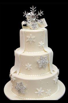 Christmas Themed Wedding Cake.
