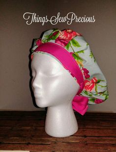 Check out this item in my Etsy shop https://www.etsy.com/listing/511682617/scrub-cap-bouffant-floral-womens-pony