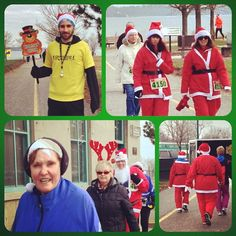 """Doing the """"Santa Shuffle"""" on the lakefront this morning! Barrie is in the Christmas spirit participating in the annual Fun Run & Elf Walk on support of The Salvation Army #getoutandplay #santashuffle #barrie #salvationarmy #funrun tourismbarrie's photo on Instagram"""