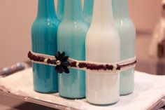 DIY: Decoração com garrafas de vidro (faça você mesma!) - Comprando Meu Apê | Comprando Meu Apê