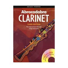 Abracadabra Clarinet. A good instruction book with a CD for clarinet - songs and tunes carefully graded to cover each aspect of technique for the beginner. $35.00