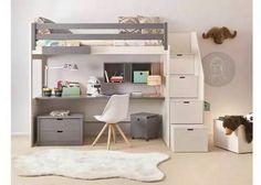 Litera habitación; cama, escritorio y gavetas en uno solo