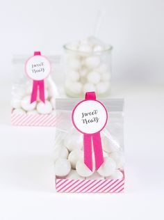 PaperEskimo.com | Hot Pink Party | Birthday Party | Baby Shower | Bridal Shower | Wedding Reception | Party Desserts | Sweet Sixteen | Hot Pink Decor | Hot Pink Ribbon | Hot Pink Treat Bags