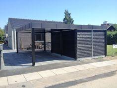 Carport Designs, Garage Design, Carport Garage, Garage Doors, Hygge, Stockholm, Sweet Home, Shed, Exterior