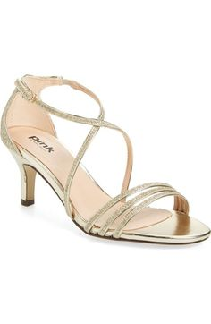 pink paradox london 'Isla' Glitter Sandal (Women) available at #Nordstrom