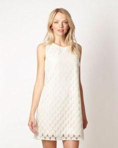 Cream geometric lace dress, Debenhams